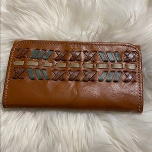 American West leather wallet very good condition